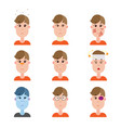 various disease avatars man face made in flat vector image vector image