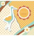 Vintage baby stork vector image