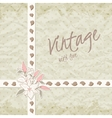 vintage invitation with ornate detailed flower vector image vector image