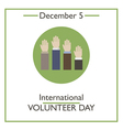 Volunteer Day vector image