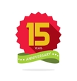 Years 15 anniversary label logo badge vector image
