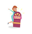 young woman suffering from gambling addiction vector image vector image