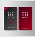 multipurpose creative business card vector image