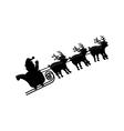Santa and deer in sleigh vector image