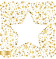 golden falling stars on a white background vector image