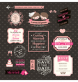 Wedding Elements labels and frames Vintage Style vector image