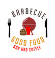 bbq barbecue good food bar and coffee image vector image
