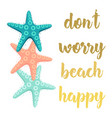 bright banner with sea stars vector image