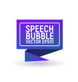 bubble speech blue vector image