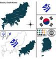 busan metropolitan city south korea vector image
