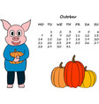 calendar for 2019 with the chinese new year pig vector image vector image