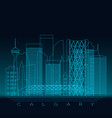 calgary skyline detailed silhouette modern vector image vector image