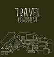 camping and tourism equipment vector image vector image