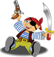 Cartoon pirate design vector image vector image