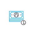 cash revenue thin line stroke icon cash vector image vector image