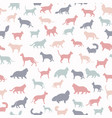 cat breeds icon set flat style seamless pattern vector image vector image
