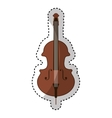 cello instrument isolated icon vector image vector image