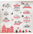 Christmas design collection typographic elements vector image