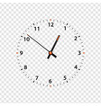 clock face isolated on transparent vector image