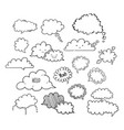 cloud speech bubbles-01 vector image vector image