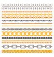 Colorful Chains Collection vector image vector image