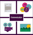 Communication design vector image