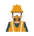 construction worker avatar vector image