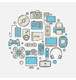 Consumer electronics and gadgets vector image vector image