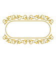 decorative ribbon border frame vector image vector image