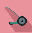 electric grass cutter icon flat style vector image