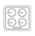 electronic hob icon design vector image