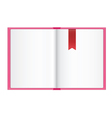 empty open book vector image vector image