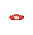 FAQ button vector image vector image