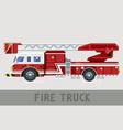 fire dept truck vector image