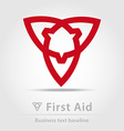First aid business icon vector image vector image