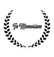 funeral wreath with in memoriam label rest in vector image vector image