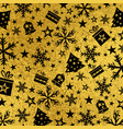 golden glossy christmas background with black vector image