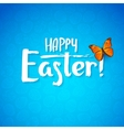 greeting card for day happy easter white vector image vector image