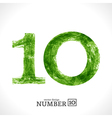 Grunge Number 10 vector image vector image