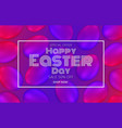 happy easter day promotion banner vector image vector image