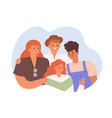 happy family portrait with parents and children vector image vector image