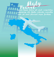 Italy travel on concept art background vector image vector image