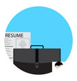 job search icon for application vector image