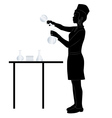 laboratory assistant silhouette vector image vector image