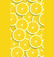 lemon fruits slice seamless pattern overlapping vector image vector image