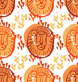 Lion pattern3 vector image