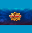 logo screen for slots game vector image vector image