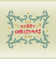 merry christmas and happy new year words on beige vector image vector image