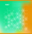 money concept in honeycombs vector image vector image