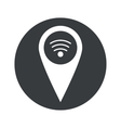 Monochrome round Wi-Fi pointer icon vector image vector image